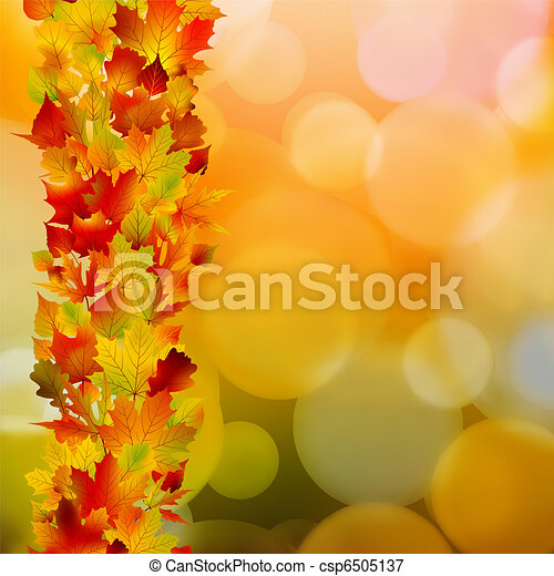Autumn leaves, very shallow focus. EPS 8 - csp6505137