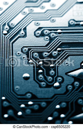 Circuit board abstract background texture. - csp6505220