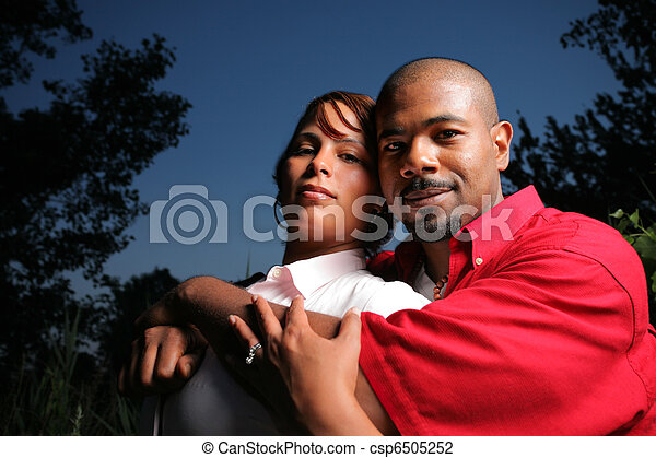 Happy couple together outdoors - csp6505252