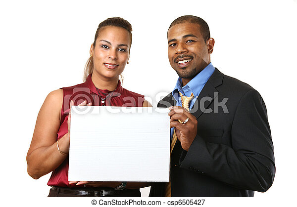 White American Couple Business Couple With White