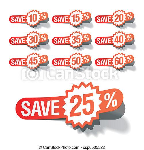 Discount labels - csp6505522