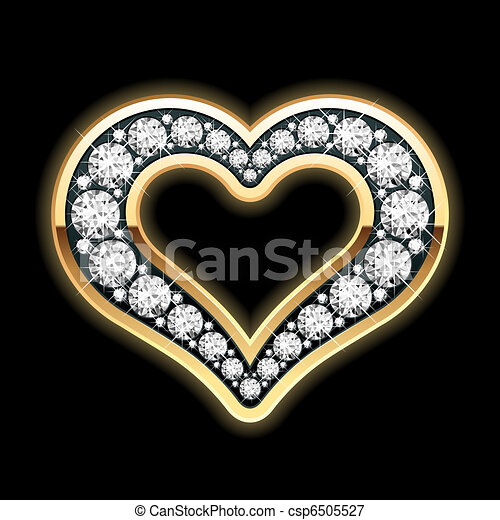 Heart in diamonds - csp6505527
