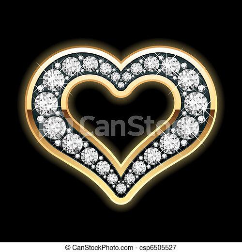 Heart in diamonds - csp6505527