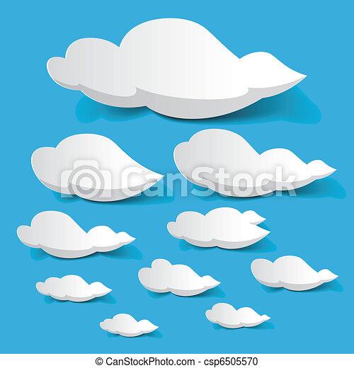 White clouds - csp6505570