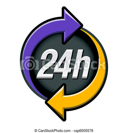 24 hours sign - csp6505576