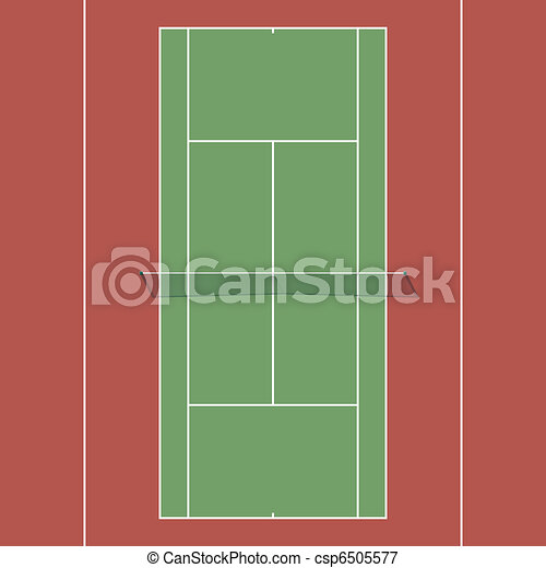 Tennis court - csp6505577