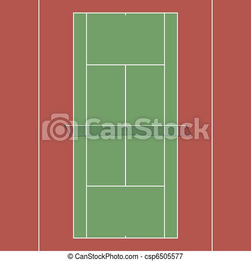 Tennis court - csp6505577