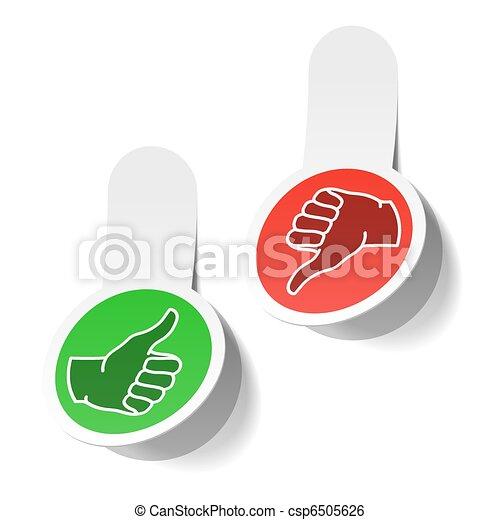 Thumb up and thumb down signs - csp6505626