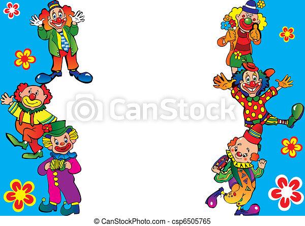 Clowns frame. - csp6505765