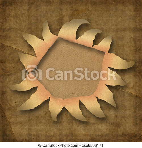 Wrinkled paper with hole  - csp6506171