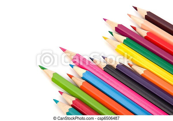 Colouring crayon pencils - csp6506487