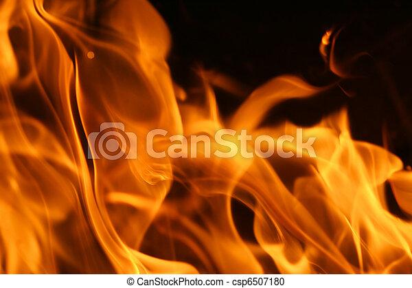 Fire flames background texture - csp6507180