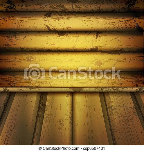 empty natural wooden interior - csp6507481