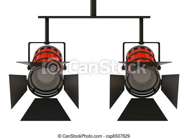 Two professional spotlight - csp6507629