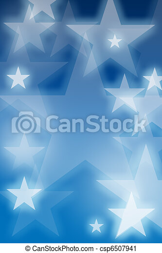 Glowing stars over blue background - csp6507941