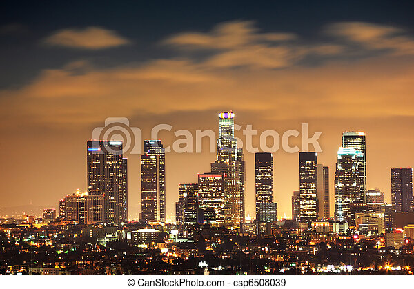 Downtown Los Angeles skyline - csp6508039