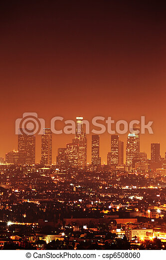 Downtown Los Angeles skyline - csp6508060