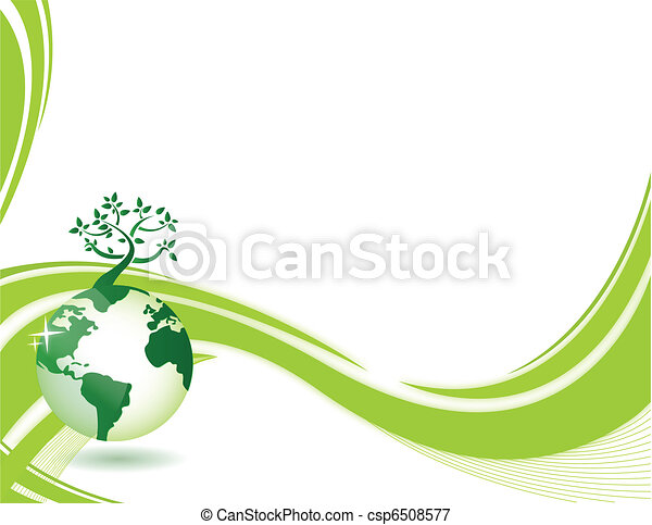 Green nature background - csp6508577