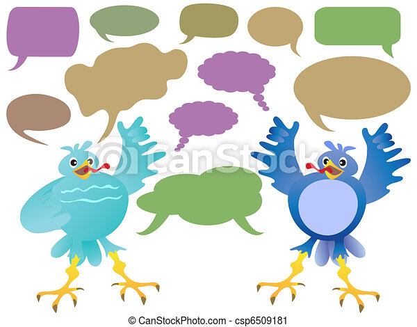 birds talk - csp6509181