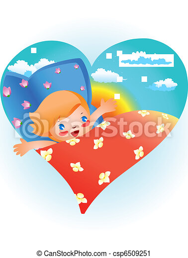 Child in bed - csp6509251