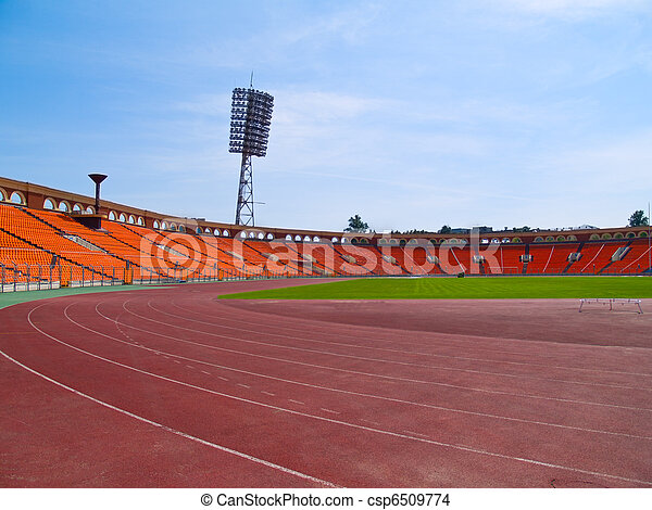 emty racetrack at stadium - csp6509774
