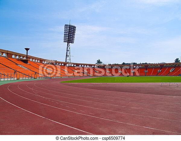 emty racetrack at stadium - csp6509774