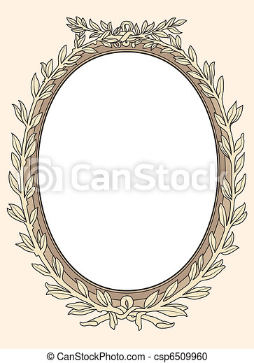 vintage photo frame ornamental vect - csp6509960