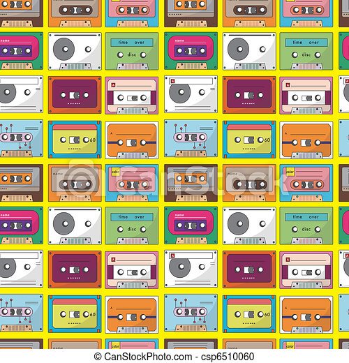 music tape seamless pattern - csp6510060