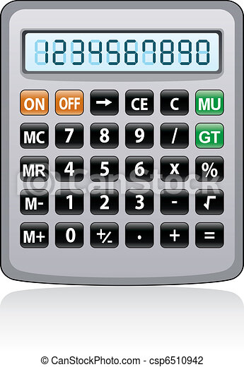 vector gray calculator  - csp6510942