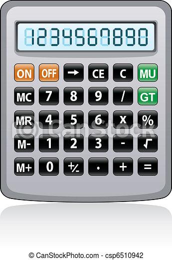 vector gray calculator  - csp6510942