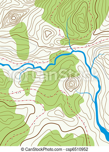 vector abstract topographical map with no names - csp6510952
