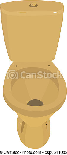 Gold toilet bowl - csp6511082