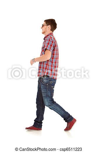 fashion man walking  - csp6511223