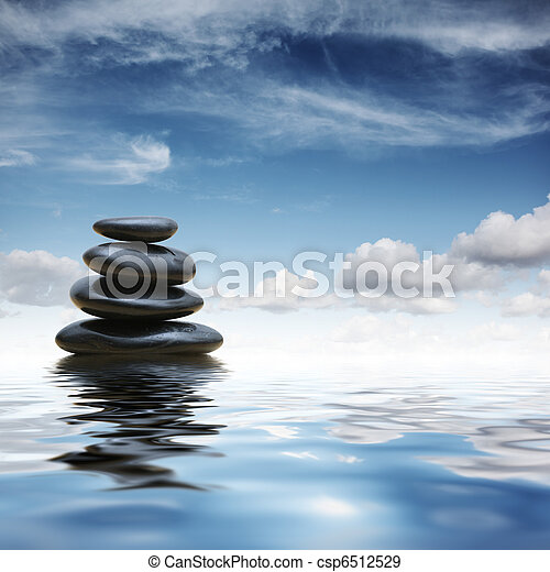 Zen stones in water - csp6512529