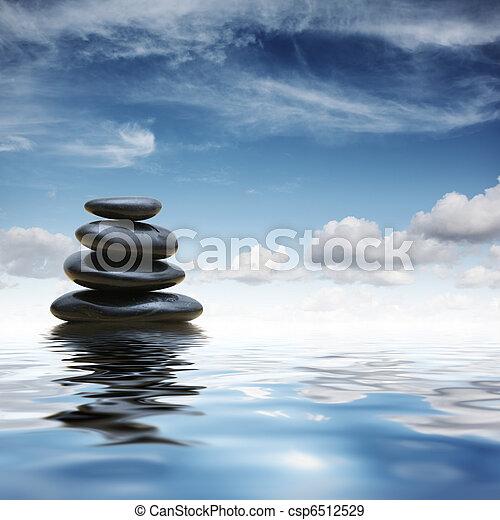 Zen stones in water - csp6512529