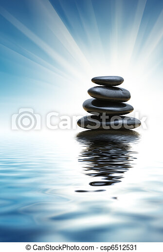 Stack of zen stones - csp6512531