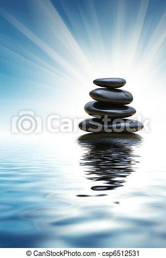 Stack of zen stones - csp6512531