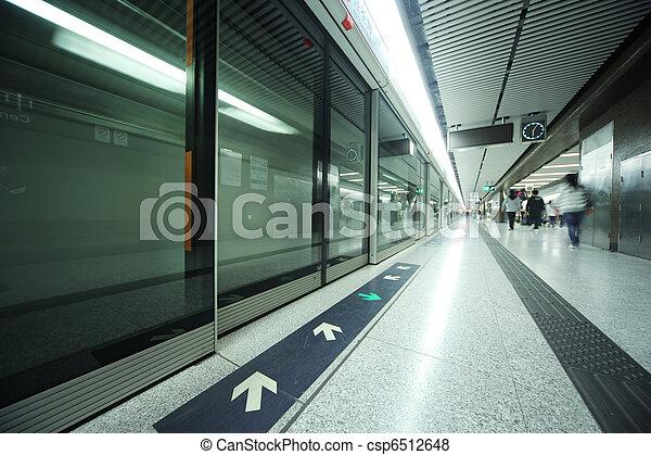 Subway station interior - csp6512648