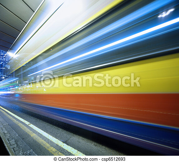 motion., スピード違反, バス, ぼんやりさせられた - csp6512693