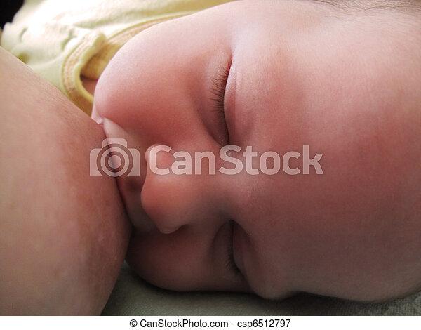 Baby breast feeding - csp6512797