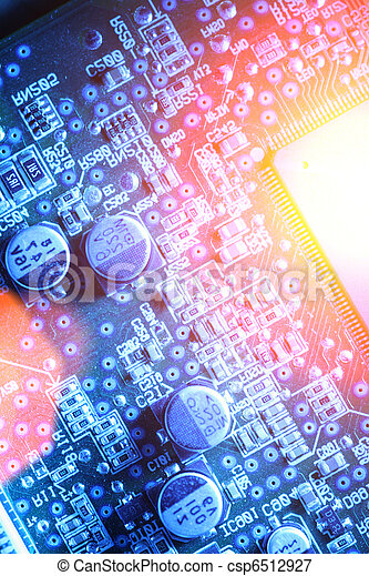 Circuit board abstract background - csp6512927