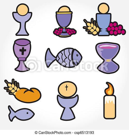 ... , incluso, ... Clipart Communion Bread And Wine