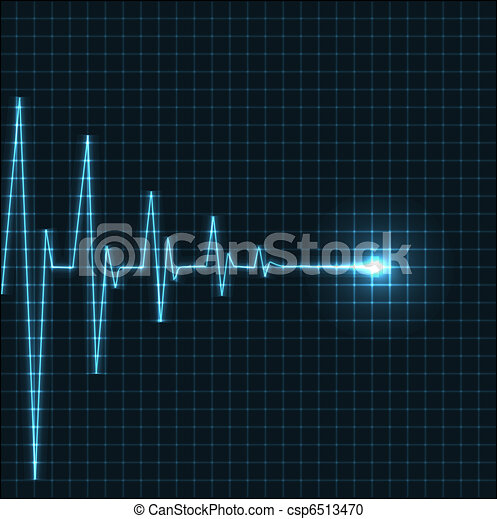 Abstract heart beats cardiogram - csp6513470