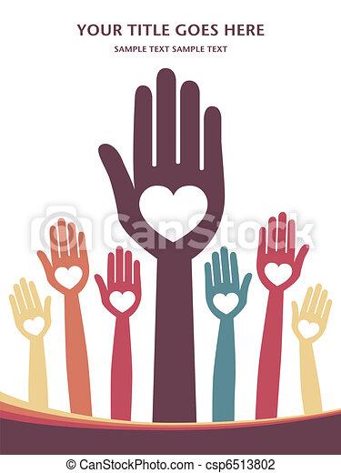 Loving hands design. - csp6513802