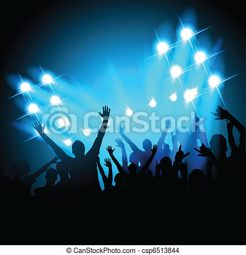 People at a Concert - csp6513844