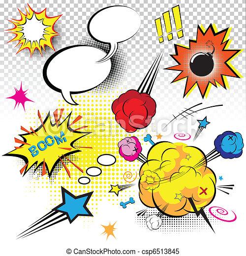 Comic Book Expressions - csp6513845
