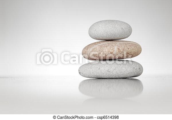 石, 白, 禅 - csp6514398