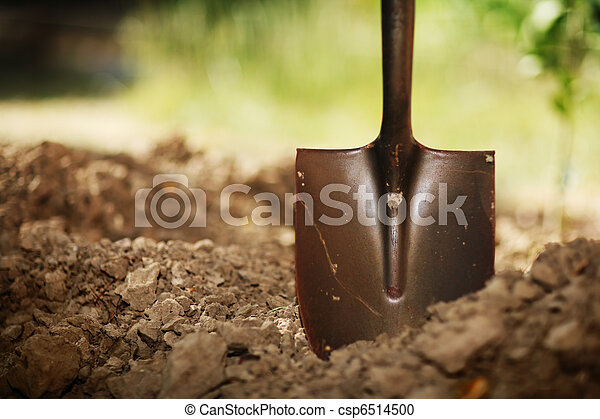 Shovel in soil - csp6514500