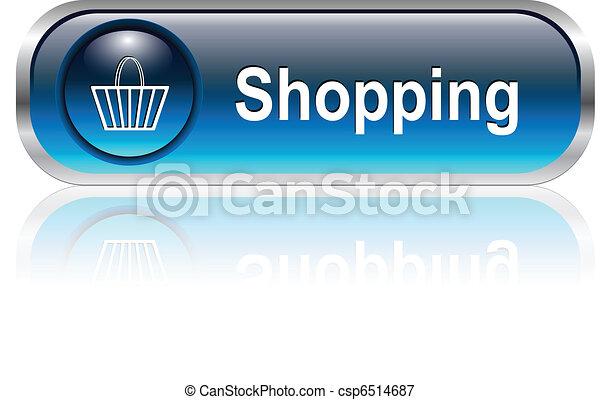 shopping cart icon, button - csp6514687