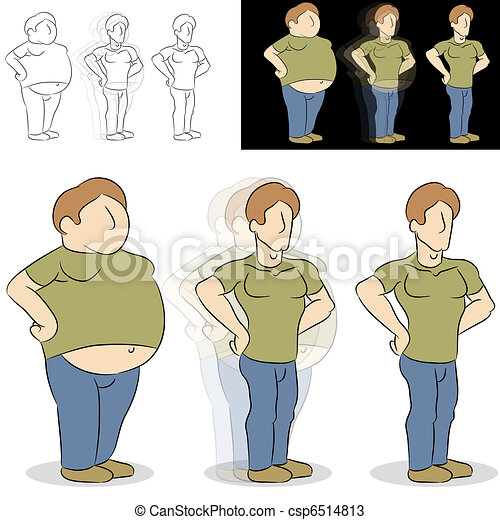 Man Losing Weight Transformation - csp6514813